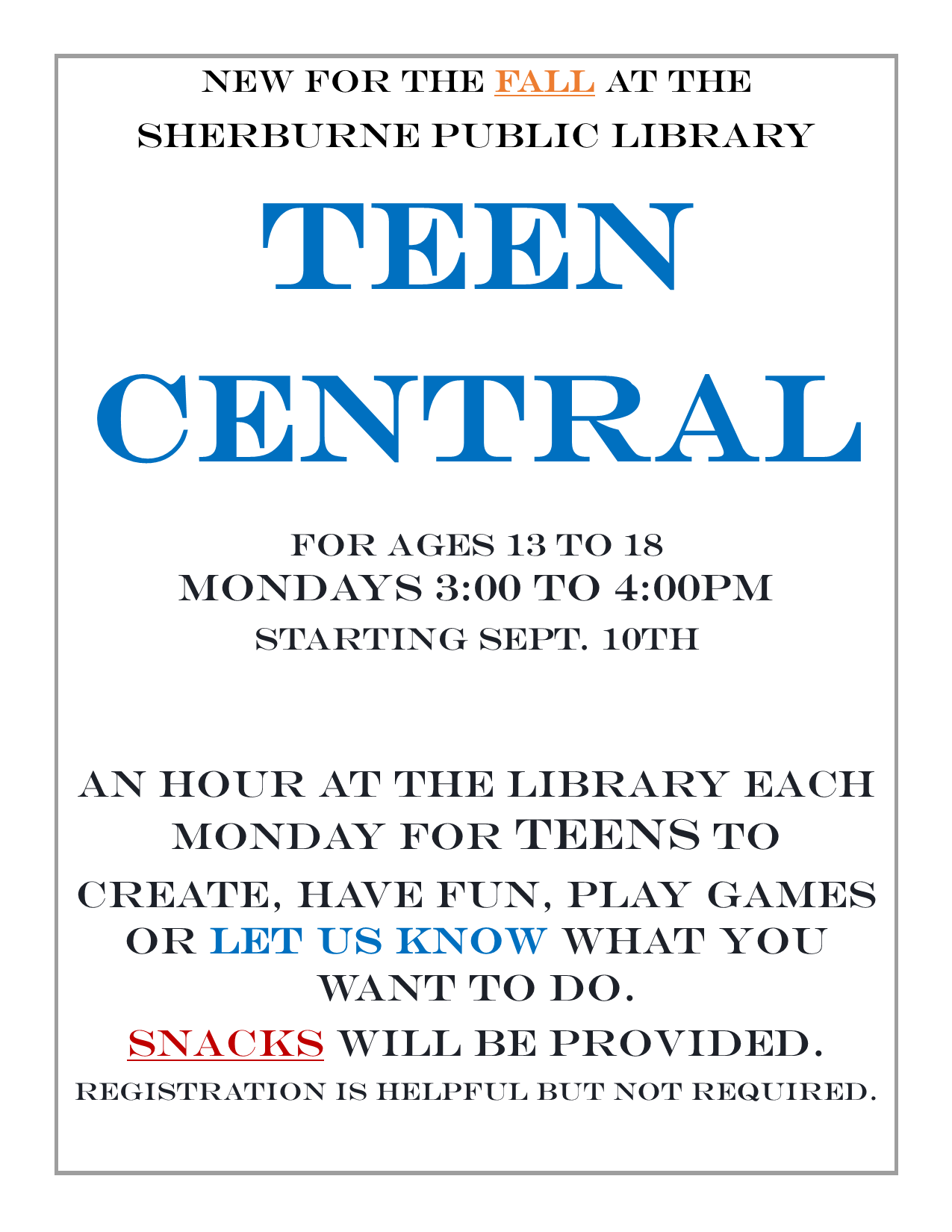 *NEW* Teen Central