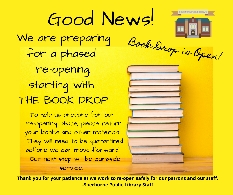 The Book Drop is Open!