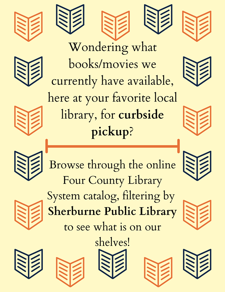 Curbside pick up is still available!