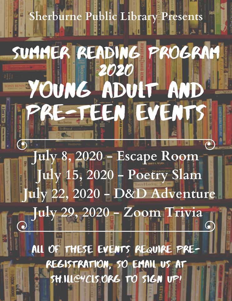 See our Young Adult tab for more information on the events tailored for young people this summer!