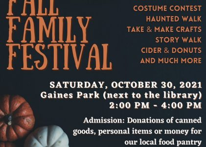 Our Fall Festival is coming back!
